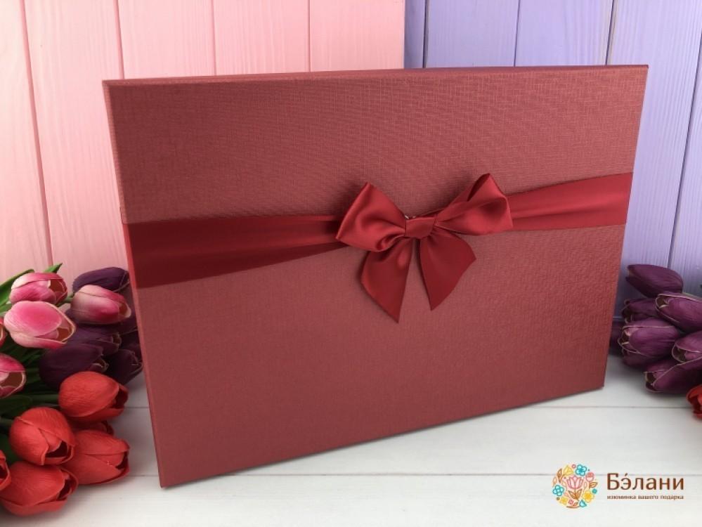 """Подарочная коробка """"Mono"""" Красная - Belany.com.ua"""
